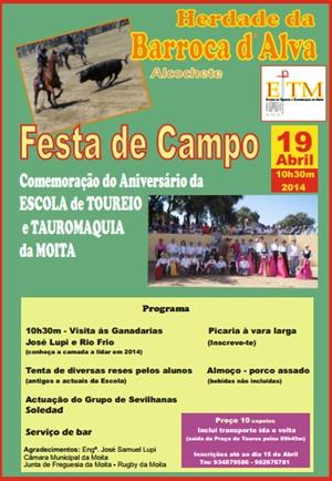 Comemoração do aniversário da Escola de Toureio e Tauromaquia da Moita