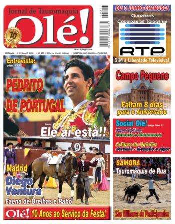 Jornal Olé nº 373 - Amanhã nas bancas