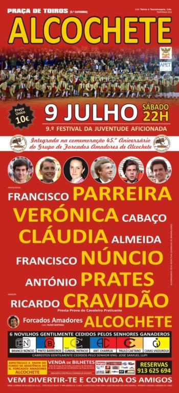 Alcochete - 9º Festival da Juventude Aficionada, dia 9 de Julho