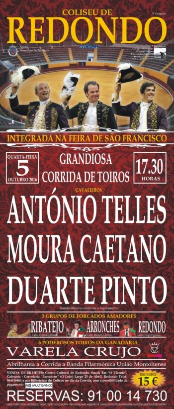 Corrida de toiros no Redondo a 5 Outubro