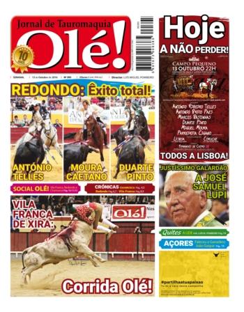 Semanário Olé edição 395, amanhã nas bancas