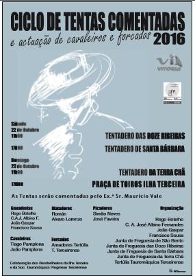 cartaz do ciclo de tentas comentadas 2016 na Ilha Terceira