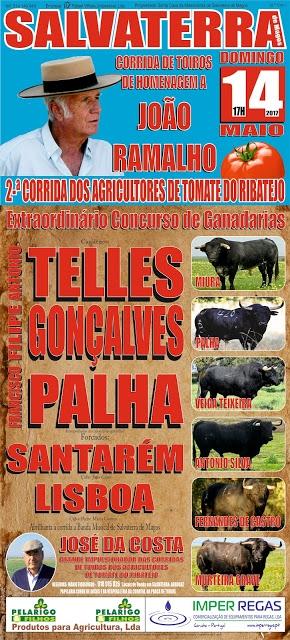 O cartaz da corrida do Tomate em Salvaterra a 14 de maio