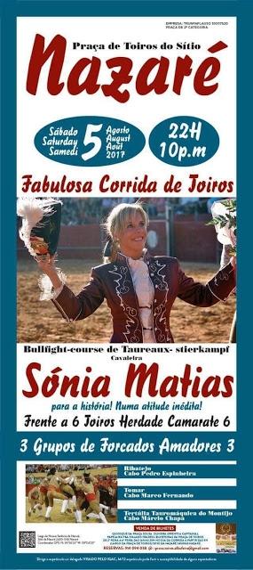 Sónia Matias encerra-se com 6 toiros na Nazaré