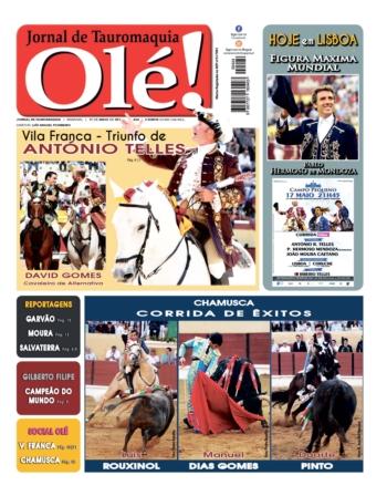 Jornal Olé 424, hoje nas bancas