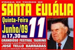 Festival Taurino em Santa Eulália dia 11 Junho