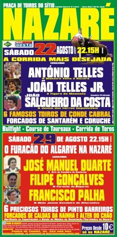 22 e 29 de Agosto no Sítio da Nazaré!