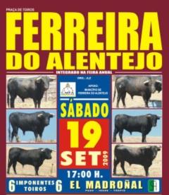 Dia 19 de Setembro há toiros em Ferreira do Alentejo!