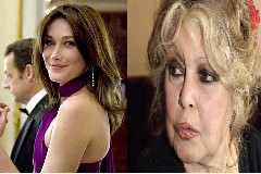 Brigitte Bardot e Carla Bruni Sarkozy unidas contra os toiros