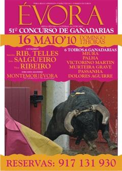 51º Concurso de Ganadarias de Évora dia 16 de Maio