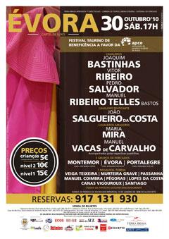Cartel do Festival de Benefeciência na Arena d´Évora