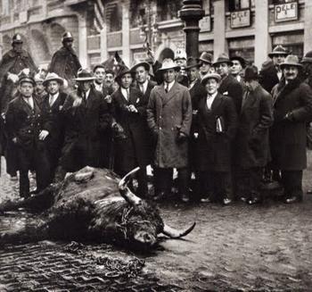23 de Janeiro de 1928, um toiro à solta em Madrid
