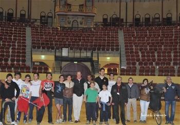 Manolo Arruza visita Academia de Toureio do Campo Pequeno