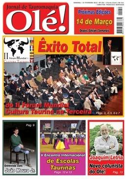 Olé! Jornal de Tauromaquia nas bancas quarta-feira