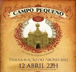 Taurodromo.com em directo na primeira corrida do Abono 2012 do Campo Pequeno