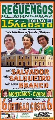 Reguengos de Monsaraz já tem cartel para dia 15 de Agosto