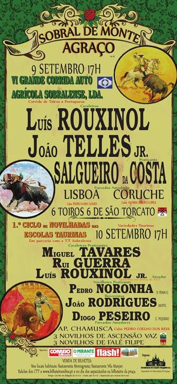 Feira Taurina do Sobral do Monte Agraço, Dias 9 e 10 de Setembro