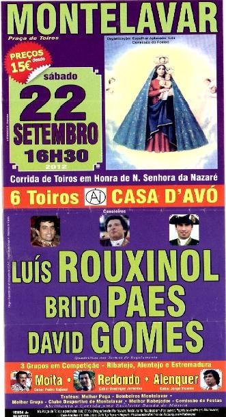 Corrida em Montelavar - Sintra, Dia 22 de Setembro