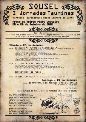 Tertúlia de Sousel promove Jornadas Taurinas, 20 e 21 de Outubro
