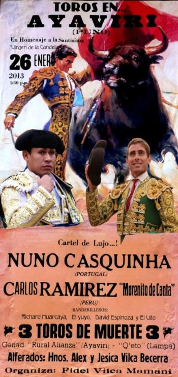Nuno Casquinha em Ayaviri (Peru)