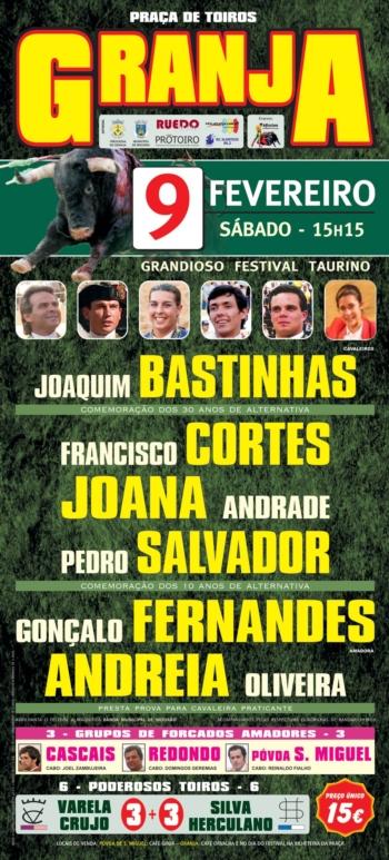 Granja recebe Festival Taurino no dia 9 de Fevereiro