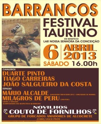 Dia 6 de Abril há Festival Misto em Barrancos