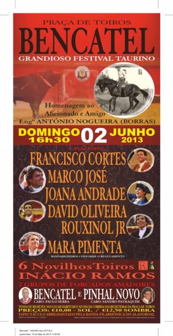 Festival Taurino dia 2 de Junho em Bencatel