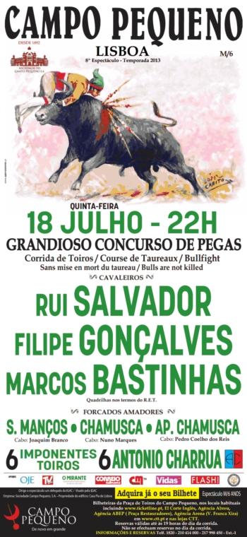 Dia 18 de Julho, Concurso de Pegas no Campo Pequeno