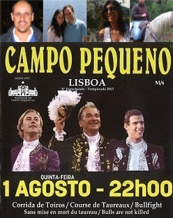 Vencedores dos bilhetes amanhã - Campo Pequeno