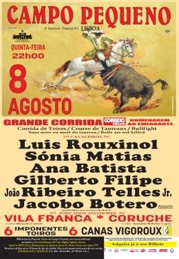 BI dos Canas Vigouroux para a corrida desta noite no Campo Pequeno