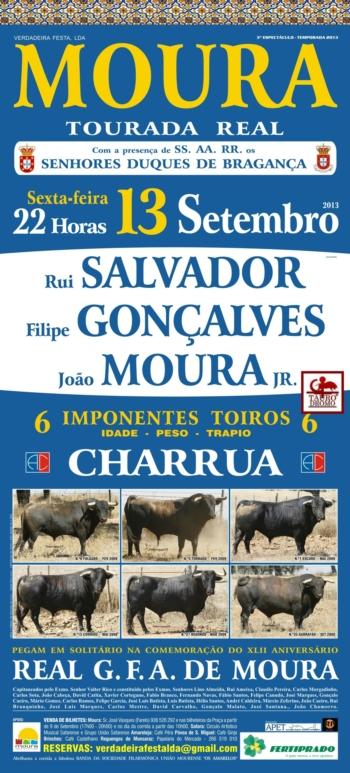 Tourada Real em Moura, dia 13 de Setembro