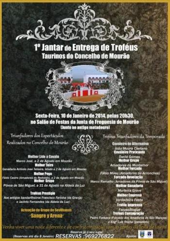 1º Jantar de Entrega de Troféus Taurinos do Concelho de Mourão