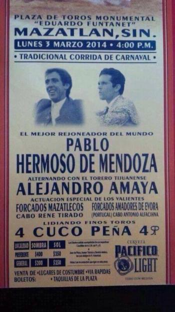 Amadores de Évora, dia 3 de Março em Mazatlán (México)