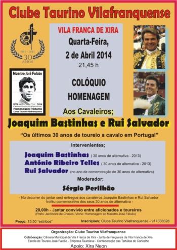 Colóquio / Homenagem a Joaquim Bastinhas e Rui Salvador