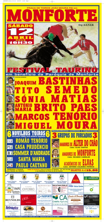 Festival de Monforte adiado para dia 12 de Abril