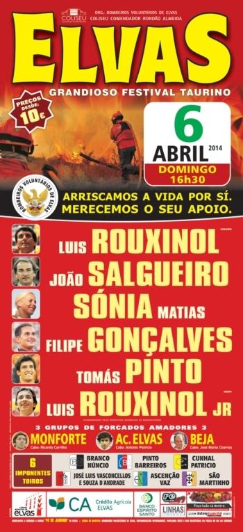 Domingo Taurino - Festival de Elvas, dia 6 de Abril