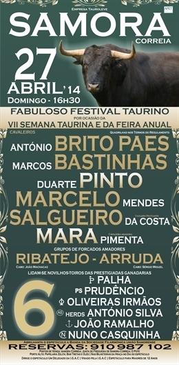 Festival Taurino em Samora Correia por Ocasião da VIII Semana Taurina e Feira Anual