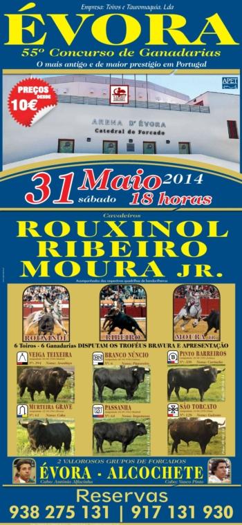 Cartel do 55º Concurso de Ganadarias em Évora