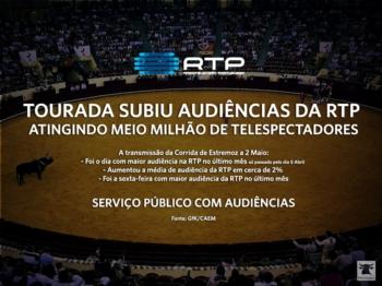 Tourada subiu audiências da RTP