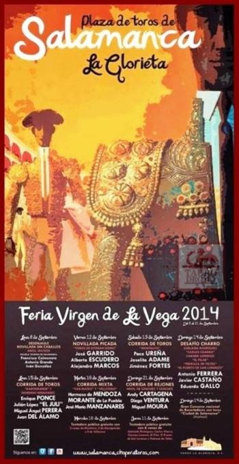 O cartaz da Feira de Salamanca com Miguel Moura