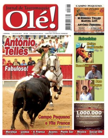 Capa do jornal Olé nº326 - Amanhã nas bancas