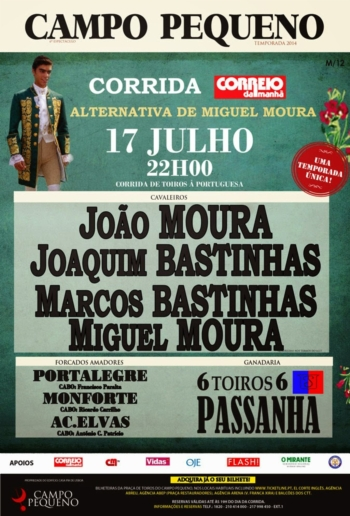 Alternativa de Miguel Moura/Corrida CM - 17 de Julho