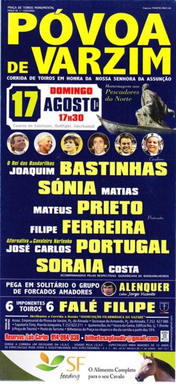 José Carlos Portugal tira a alternativa dia 17  de Agosto na Póvoa de Varzim