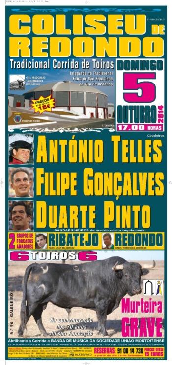 Cartaz de 5 de Outubro no Redondo