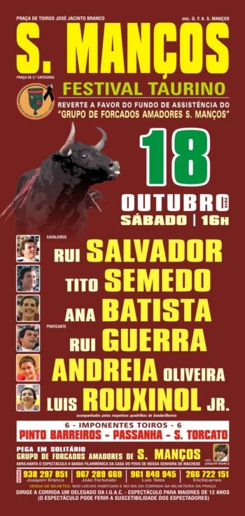 Festival Taurino - 18 de Outubro - São Manços