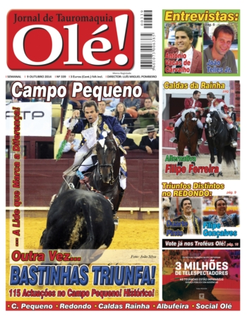 Capa do jornal Olé desta semana