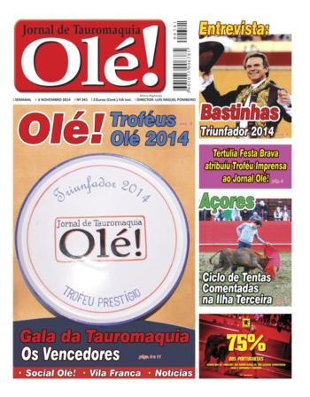 Jornal Olé nº 341 - Nas bancas hoje 5ª feira - 6 de Novembro