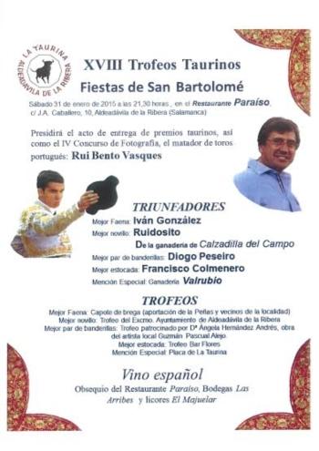 Diogo Peseiro premiado em Aldeadávila de la Ribera