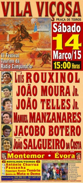 14 de Março - VI Festival Taurino Rádio Campanário