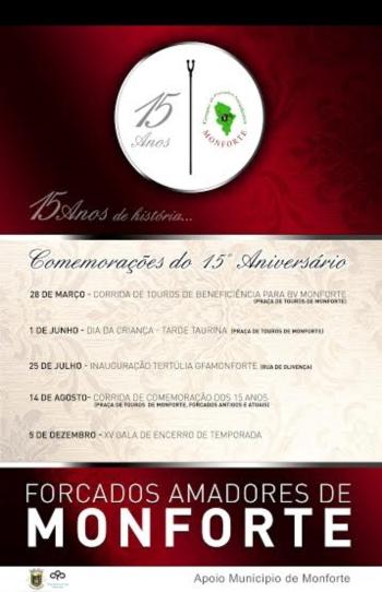 Comemorações dos XV aniversário do GFA de Monforte